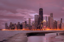Chicago Sunrise Panorama
