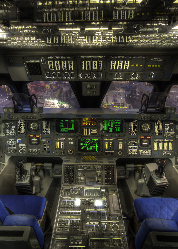 Space Shuttle Cockpit, Houston
